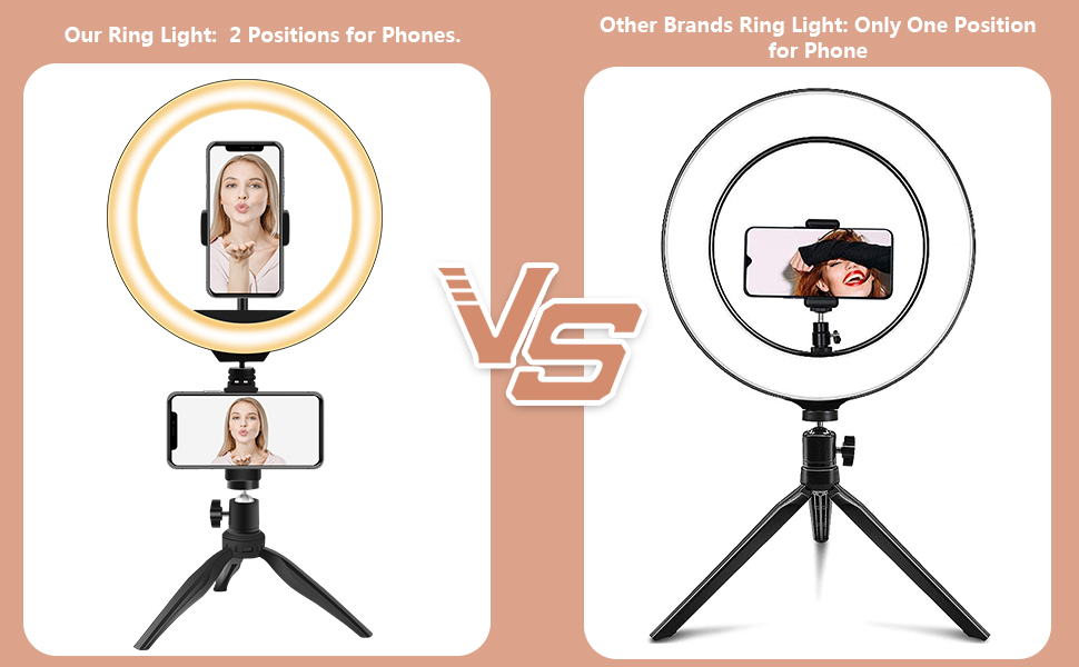 ring light with stand and phone holder