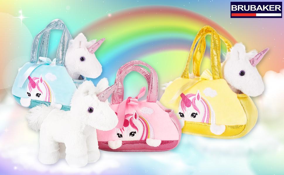 tasche, handtasche, täschchen, einhorn, unicorn, kuscheltier, schmusetier, fabelwesen, brubaker