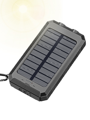 Solar Charger, STOON 10000mAh Portable Solar Power Bank Phone Charger with Flashlight & Compass for Outdoor Camping Travelling, External Battery Pack ...