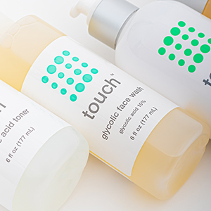 Touch Glycolic Face Wash with green tea, chamomile, and aloe vera