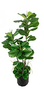 Artificial FIDDLE LEAF FIG Tree Fake Imitation Home Décor Plant Indoor Silk Leaf luxury Deluxe 66""