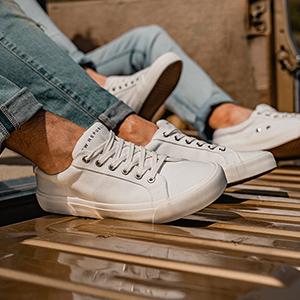 bowery canvas sneaker white
