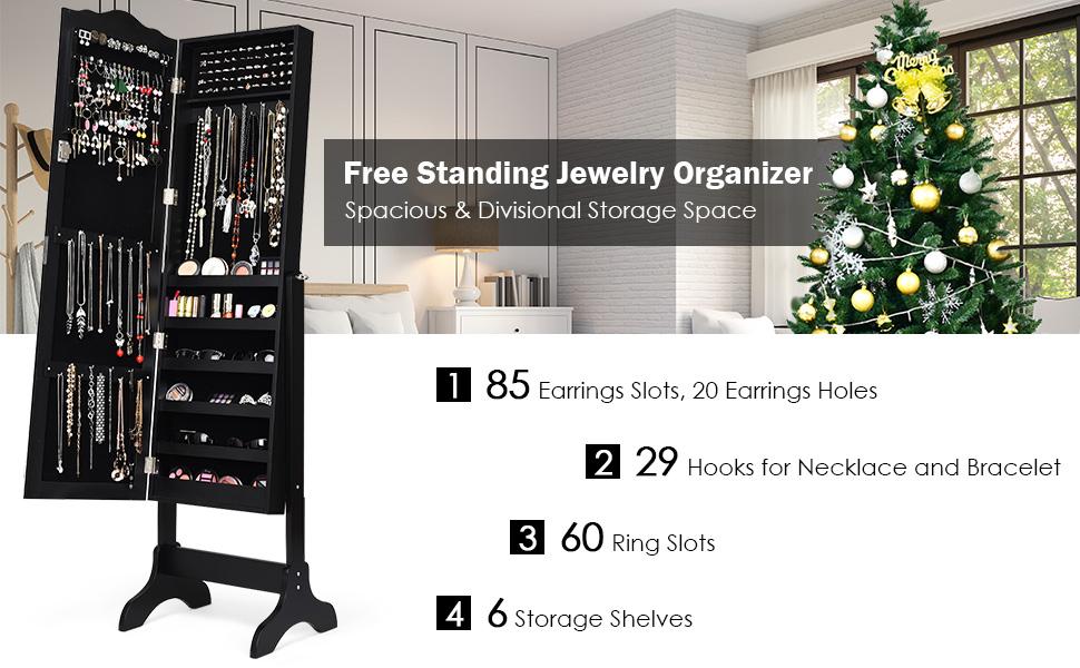 Free Standing Jewelry Organizer