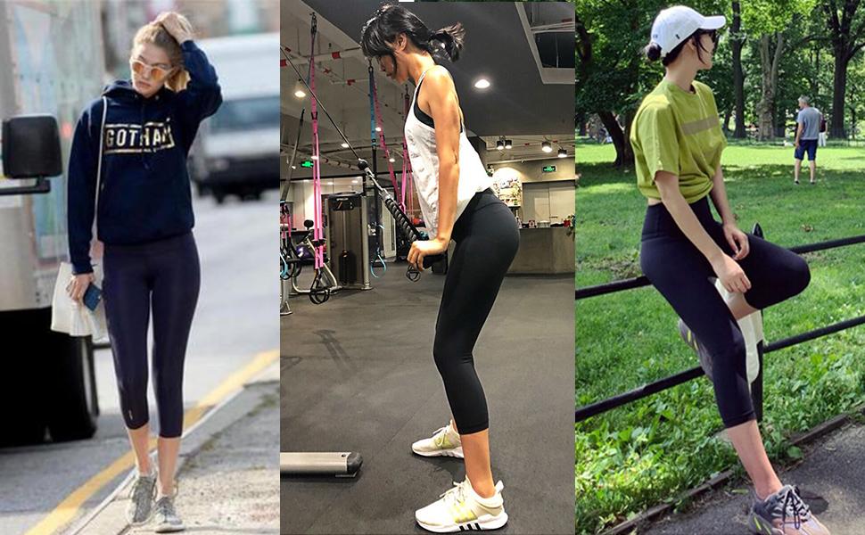 3 Pack Capri Leggings for Women Butt Lift-High Waisted Tummy Control Black Workout Yoga Pants