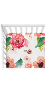Crib Sheet-Coral