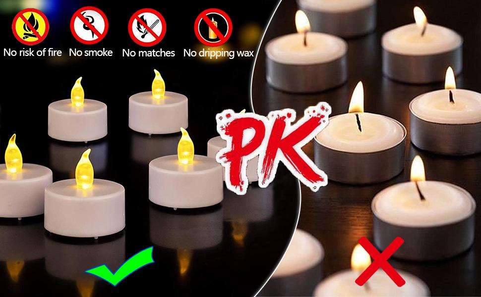 Flameless Votive Led Tea Light Candles-Ideal Choice