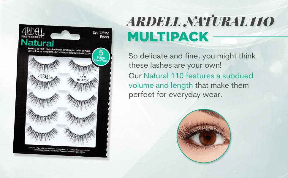 Ardell False Eyelashes Natural 110 Black, 1 pack (5 pairs per pack) …