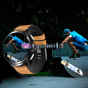 the smartwatch has dual cameras,it supports soprts