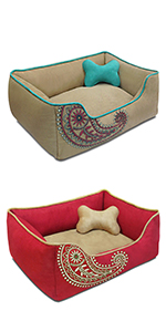 Microsuede Embroidered Paisley Bed