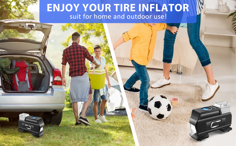 tire inflator portable air compressor air pump