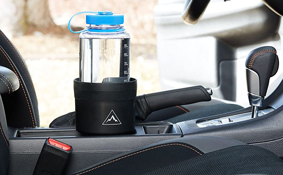 Rubber Tabs Securely Hold Large Water Bottles 4347607805 Swigzy Car Cup Holder Expander Adapter with Adjustable Base