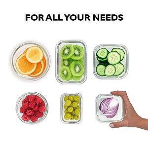 Home Fleek - Envases de Vidrio para Alimentos | 6 Recipientes + 6 ...