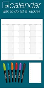 Calendar dry erase sticky notes post-it replacement