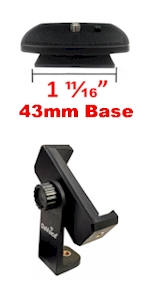 43mm quick release plate phone tripod mount