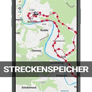 gps tracker Streckenspeicher