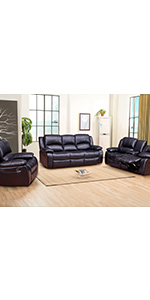 reclining relaxing relax lazyboy betsy furniture 3pc leather home decor house sofaset livingroom