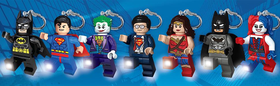 DC Superheroes Key Light Flashlight Keychain Batman Superman The Joker Wonder Woman Harley Quinn