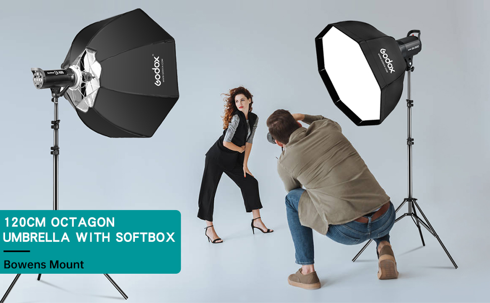 GODOX 140cm Oct/ágono Rejilla Softbox Bowens Mount para Fotograf/ía Studio Flash LED Iluminaci/ón SB-FW140CM