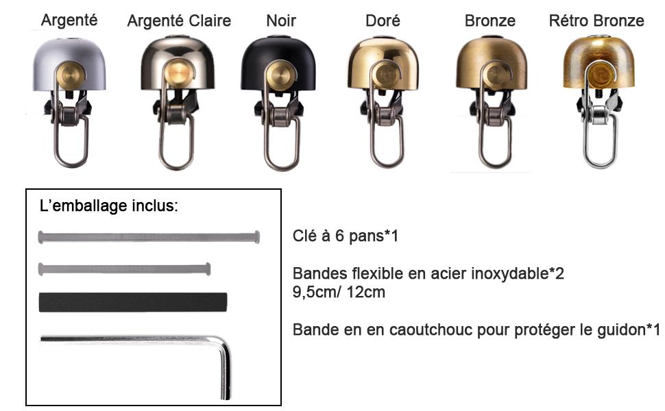 Laiton-Simple Strike Guidon Bell Noir