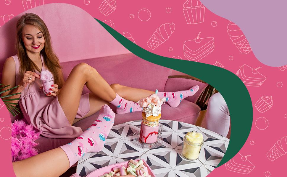 Chaussettes roses et adorables par Rainbow Socks