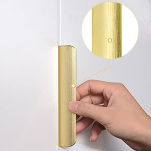 5 in(128mm) Edge Pull Brushed Gold For Kitchen Door Drawer Cabinet