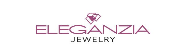 ELEGANZIA contemporary sterling silver jewelry company logo hypoallergenic nickel free cz