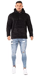Black Sherpa Hoodie
