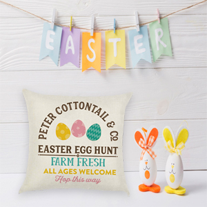 Easter Throw Pillow Cover