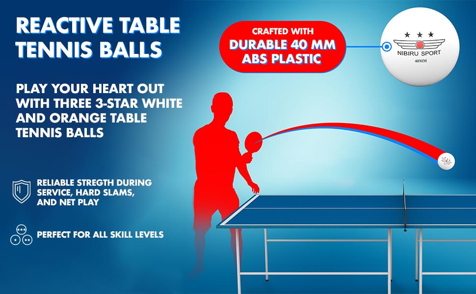 reactive table tennis balls