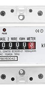 Einphasiger Wechselstromzähler Stromzähler 32A S0 für Hutschiene Analog MID 220V