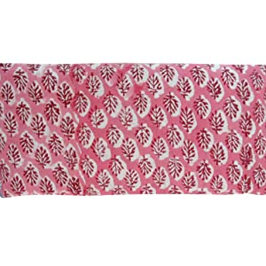 Lavender Scented Eye Pillow block print leaf cotton yoga massage relaxation spa natural wholesdale