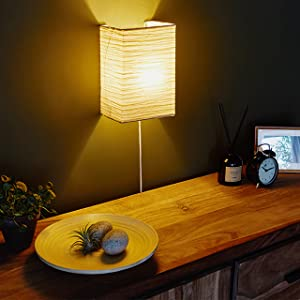 rice paper wall lamp modern decor contemporary decor clock picture table lamp plant wooden plate