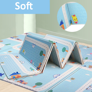 Bammax Baby Play Mat Baby Mat Baby Crawling Mat Folding Baby Floor Mat Environmentally Friendly Xpe Material Double Sides Waterproof Non Toxic Bpa Free 197 X 177 X 1 5 Cm Auto Baby