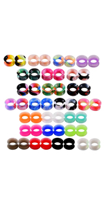 silicone ear tunnels piercing gauges