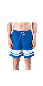 mens striped swim shorts