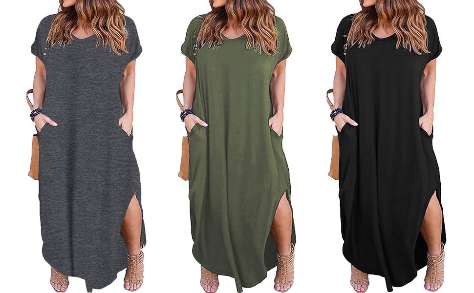 womens plus size dresses short sleeve 2021 fashion