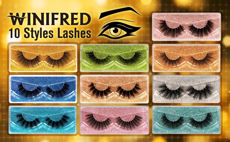 natural false lashes natural eyelashes pack eyelashes mink eyelashes natural looking 3d lashes