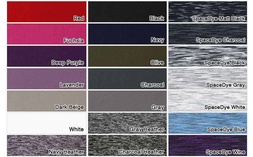 ODODOS yoga pants material color