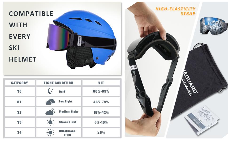 Ski Goggles for Men Women Snowboard Snow Goggles