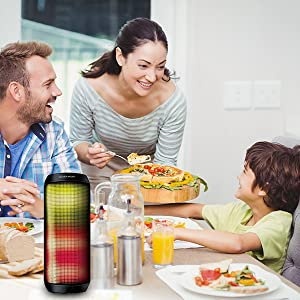 Dinner, friends party,LED Bluetooth speaker for the party adds an irreplaceable and active element.