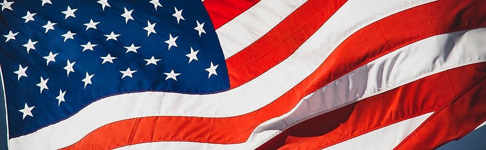 American Flag.  Made in America.  USA