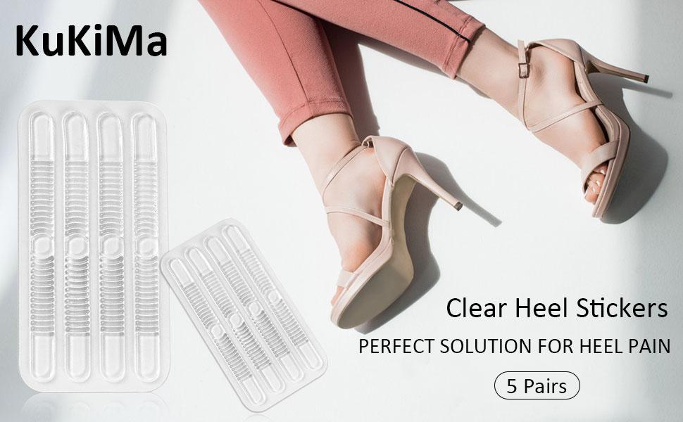 Shoe Strap Grips, Clear Heel Stickers