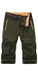 men's Cargo Shorts Elastic Waist Comfy Cotton Shorts Loose Fit Casual Hiking Shorts