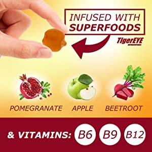 Tigereye Nutraceuticals Tigereye apple cider vinegar gummy vitamins, non goo, organic, with mother v