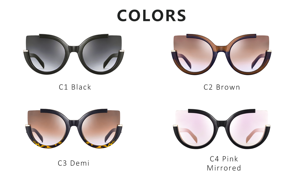 Kenavinca Fashion Women Oversized Sunglasses Oval Acetate Frame Men Sun Glasses Goggles