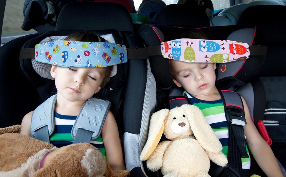 Rovtop 2 Pezzi Cinturino Supporto per Testa Bambini Neonati per