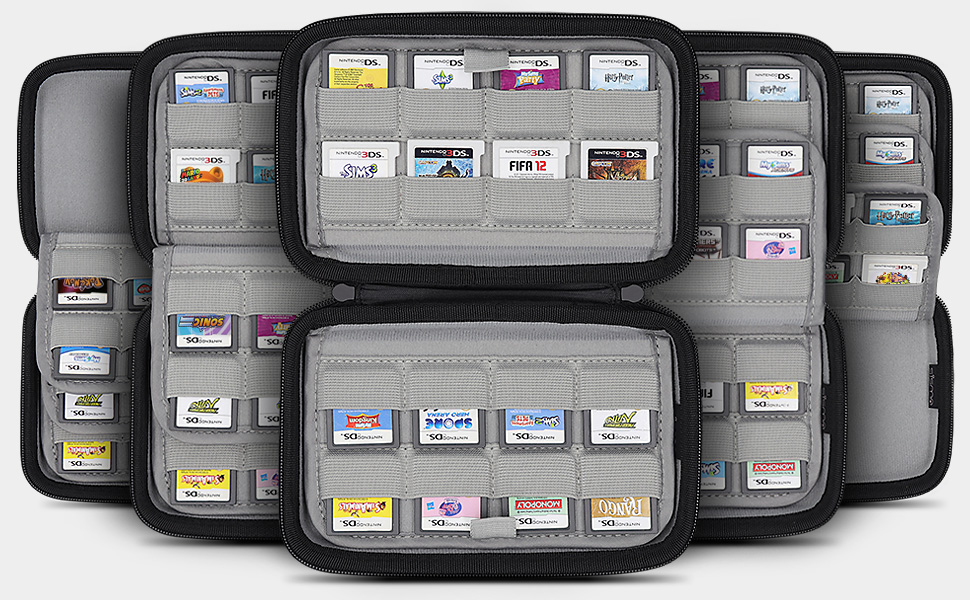 nintendo 3ds 2ds ds dsi switch game card holder cartridges storage case