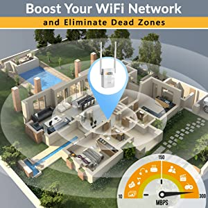 wifi extender fast interent booster range repeater