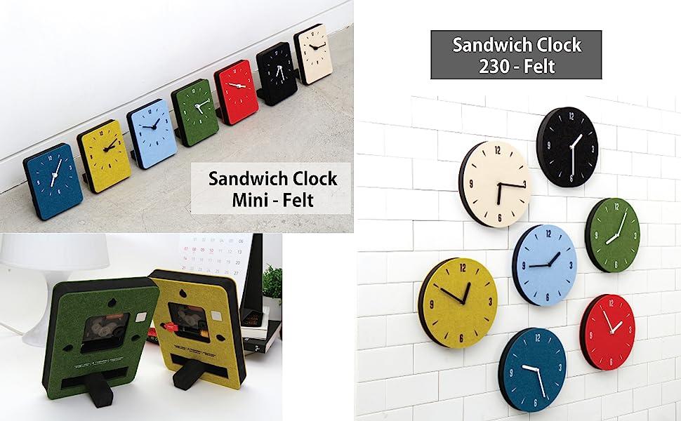 Thehaki clock felt mini basic 230