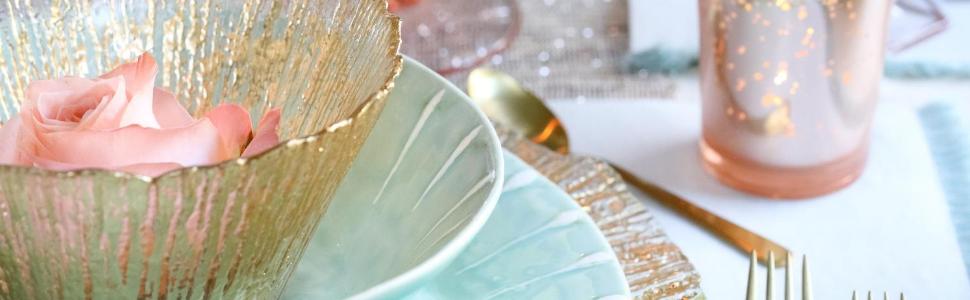 gold plates stoneware bowl plate bowls glass vietri rufolo gold flecks italy wedding dinnerware art